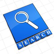 search sign - stock illustration