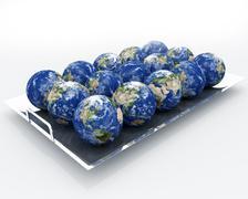 Earth - Cornucopia View Stock Illustration