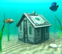 Underwater Mortgage - stock illustration