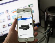 Swedish IKEA internet webpage in Poland Stock Photos