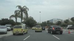 Driving Through Rio de Janeiro. Brazil. Uber, Yellow taxi Stock Footage