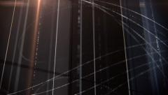 Abstract dark lines animation with lensflare - stock footage
