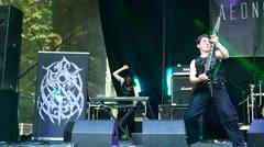 Aeons Confer performs at Metaldays Festival Stock Footage
