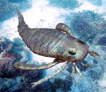 Eurypterus Scanning Seafloor - stock illustration