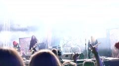 Archenemy performs at Metaldays Festival Stock Footage
