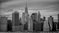 Manhattan Black and White Time-lapse Stock Footage