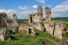 ruin stronghold Kosumberk, Czech republic - stock photo