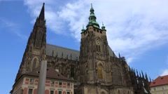 St. Vitus Cathedral within the Prague Castle complex. Stock Footage