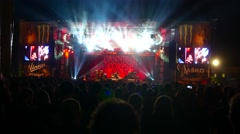 Cannibal Corpse performs at Metaldays Festival - stock footage