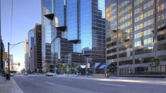 4K UltraHD Morning Traffic flows in the city center in Toronto Stock Footage