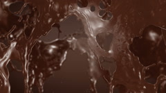 Splash of Hot Chocolate. Slow motion. Stock Footage