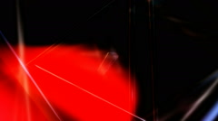 glowing lights triangle - stock footage