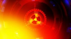 nuclear core lights - stock footage