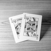 Love king queen card black and white color tone style Stock Photos