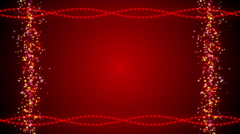 Wedding abstract background, wave hearts, frame, loop Stock Footage