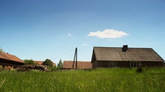 Village countryside time lapse in full HD. Beautiful landscape of Europe. Stock Footage