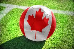 football ball with the national flag of canada - stock photo