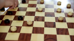 Children Playing Checkers Stock Footage