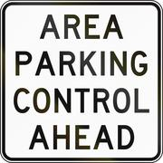 Area Parking Control Ahead In Australia Stock Illustration