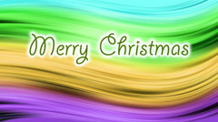 Writing Merry Christmas,   Background changes colors in throughout the spectrum Stock Footage