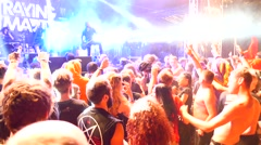 Moshpit on a Betraying The Martyrs concert at Metaldays Festival - stock footage