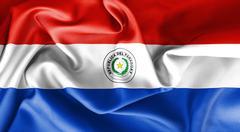 Paraguay Flag Obverse Side Stock Illustration
