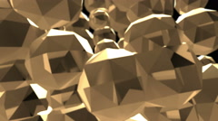 Abstract Golden Objects Background Loop Stock Footage