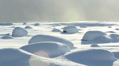 Snow bumps in South Iceland Stock Footage