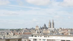 City of Caen in Northern Normandy capital of Calvados region 4K 2160p UltraHD Stock Footage