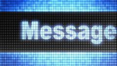 """Message"" on screen. Looping. Stock Footage"