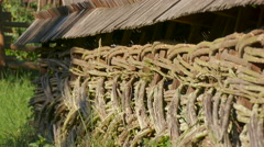 Twigs fence at the Open Air Museum, Sibiu Stock Footage