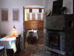 Interior of the old style national Czech restaurant. Prague. Stock Footage