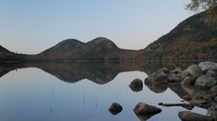 Stock Video Footage of Jordan Pond and Bubbles dusk, Acadia National Park, Maine