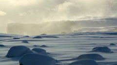 Peninsula Dyrholaey in south Iceland in morning light - stock footage
