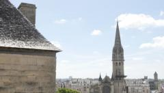Beautiful tower of church Saint-Pierre located in Lower Normandy city of Caen Stock Footage