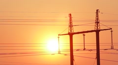 Electric wires. - stock footage