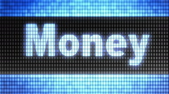 """Money"" on screen. Looping. Stock Footage"