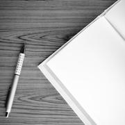 Notebook black and white color tone style Stock Photos