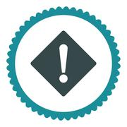 Error flat soft blue colors round stamp icon Stock Illustration