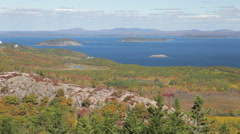 Frenchman Bay from The Beehive, Acadia National Park Stock Footage