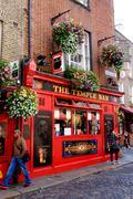 Dublin, Ireland. August 18, 2015. Pub in Temple Bar area of the city - stock photo