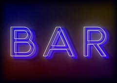 Bar neon sign, design for your business Stock Illustration