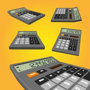 Calculator on an orange background Stock Illustration