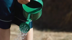 Gardening Watering Can Stock Footage