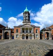 Stock Photo of Clock Tower in Dublin Castle yard