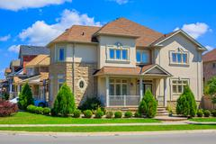 Luxury houses in North America - stock photo