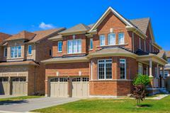 Luxury houses in North America - stock photo