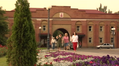 People Returning Home After Attending Church (Donetsk) - stock footage