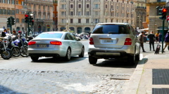 Traffic in Rome - stock footage