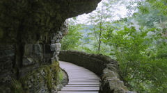 Clifty Falls Overlook and Path Mountain Pass Trail Awesome Stock Footage
